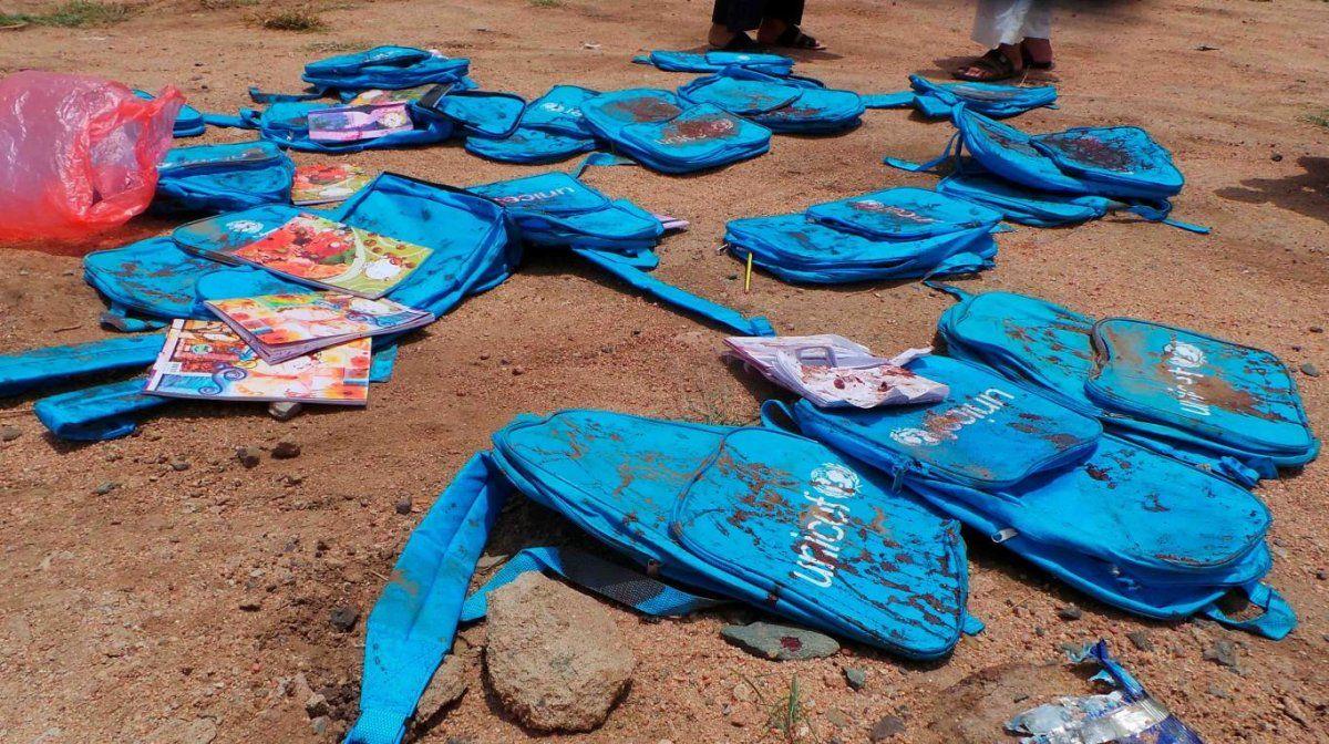 Murieron 29 nenes tras un ataque aéreo en Yemen