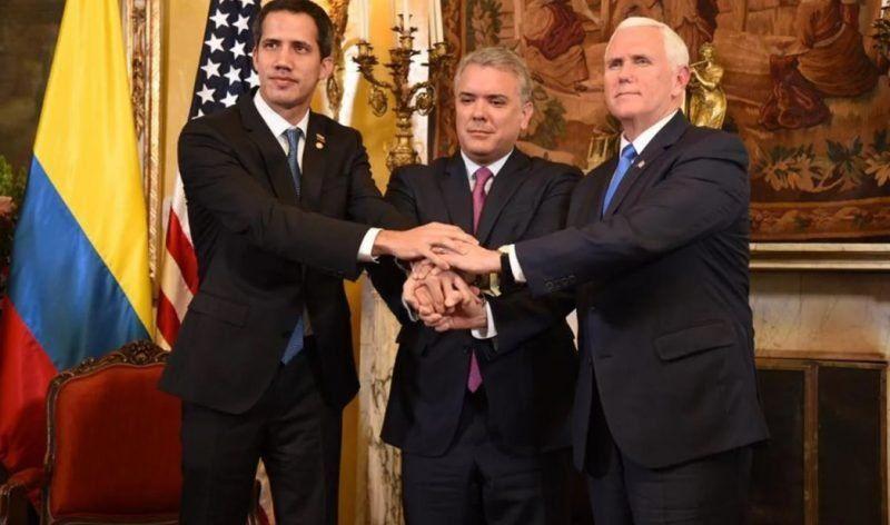 """El vice de Estados Unidos a Guaidó: """"Trump está con usted 100%"""""""