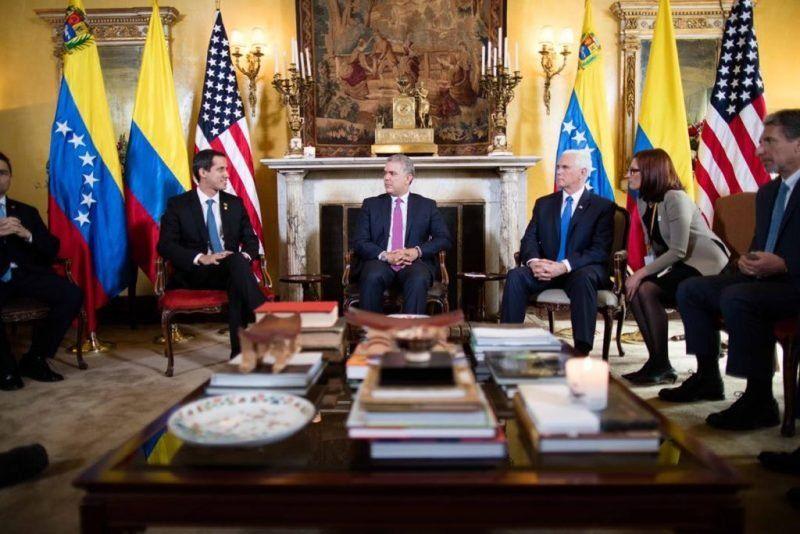 """Guaidó y Pence en el Grupo de Lima: """"Es hora de actuar contra Maduro"""""""