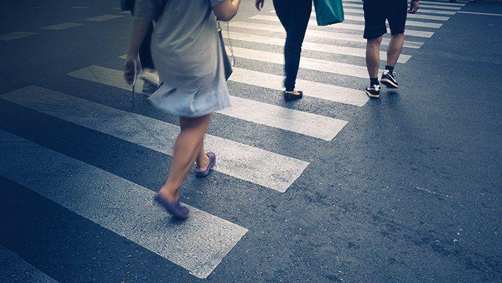 Más de 1600 peatones murieron en accidentes de tránsito durante 2018