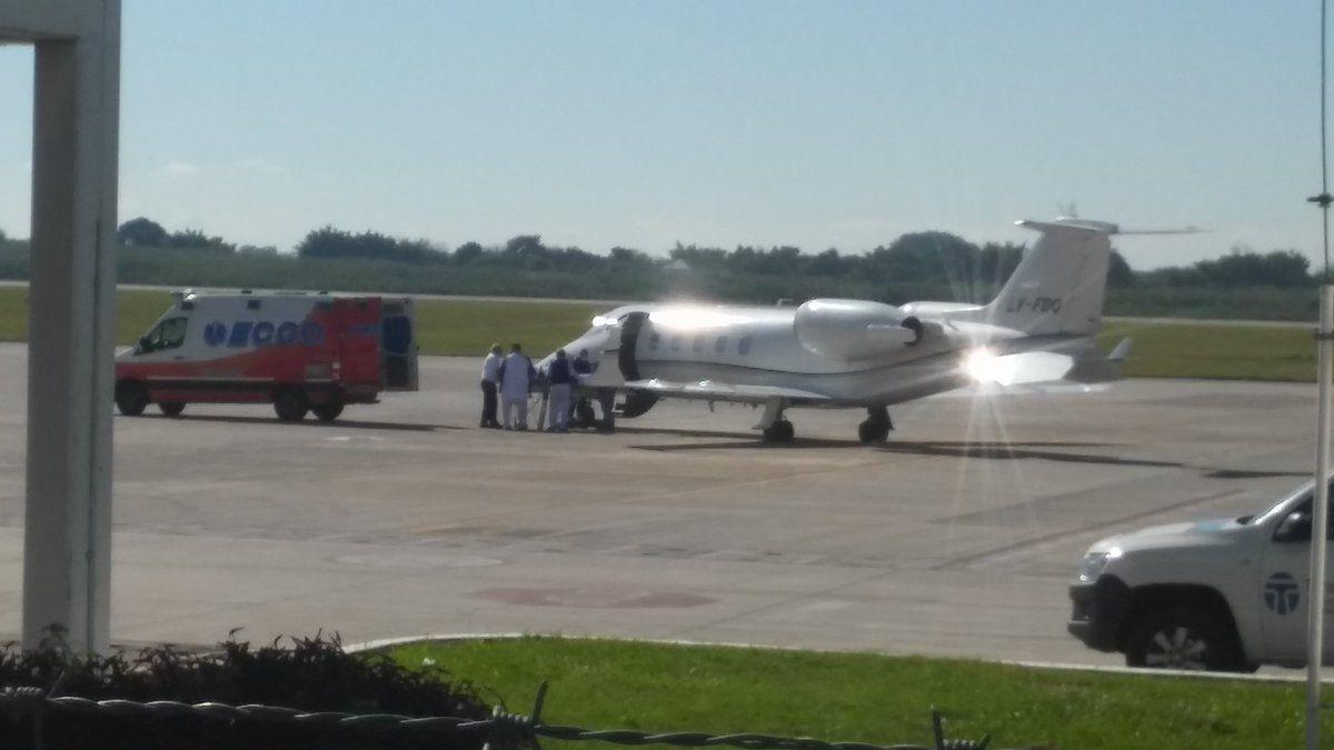 Trasladaron a Sergio Denis a Buenos Aires en un avión sanitario