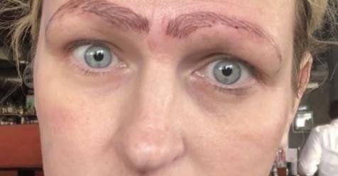 Se quiso hacer un tratamiento en las cejas y el resultado no fue lo que esperaba
