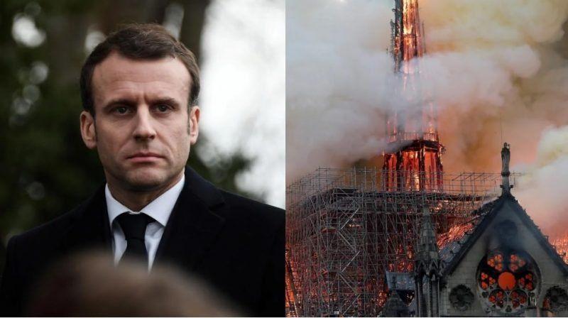 Emmanuel Macron prometió que la catedral de Notre Dame será reconstruida