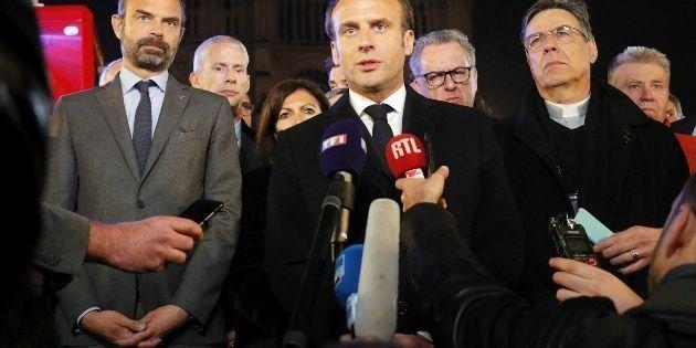 """""""Reconstruiremos Notre Dame todos juntos"""", dijo Emmanuel Macron"""