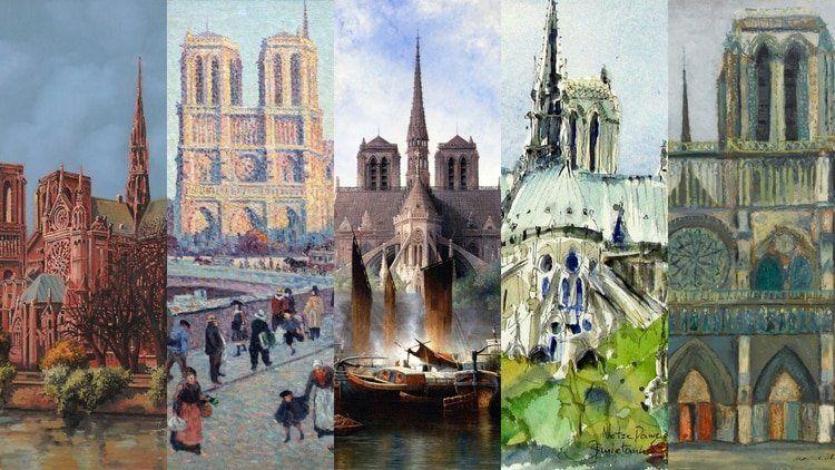 12 pinturas que retratan la belleza de la catedral de Notre Dame