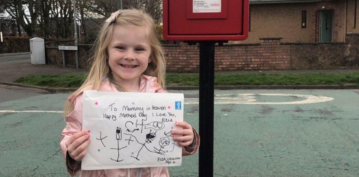 Tiene 4 años, le escribió una carta a su mamá muerta y recibió una respuesta conmovedora