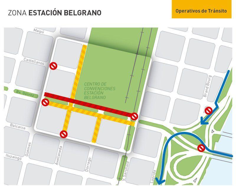 Cómo serán los operativos por la Cumbredel Mercosur que se realiza esta semana en la Estación Belgrano