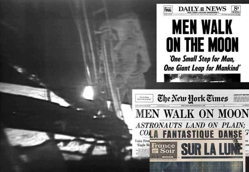 """Las tapas de los diarios cuando el hombre pisó la Luna: """"Es muy bonito aquí arriba…"""""""