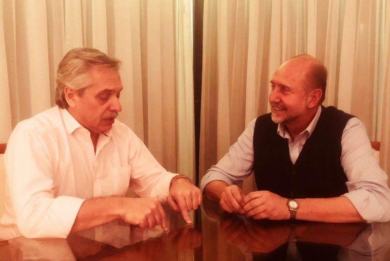 Omar Perotti y María Eugenia Bielsa se reunieron con Alberto Fernández en Buenos Aires