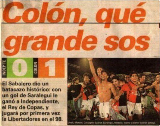 El recuerdo más grato de los hinchas de Colón frente a Independiente