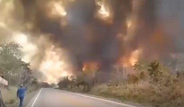 Las llamas devoran cientos de miles de hectáreas en Bolivia y hay dos mil familias afectadas