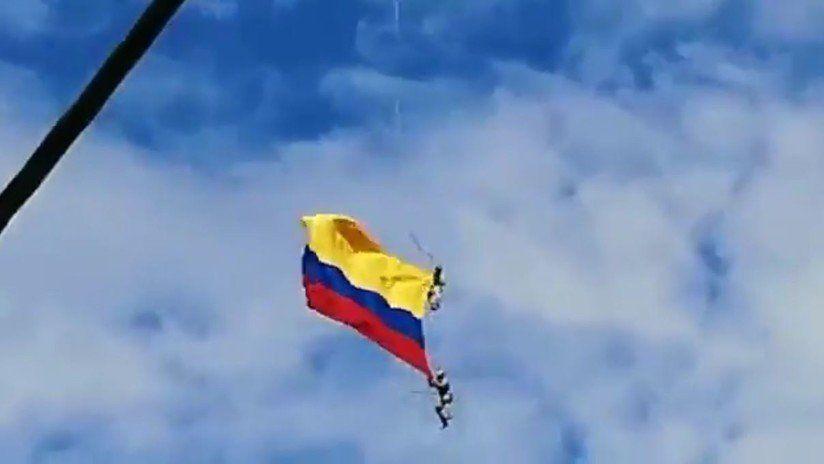 Así caían trágicamente al vacío desde un helicóptero dos militares colombianos