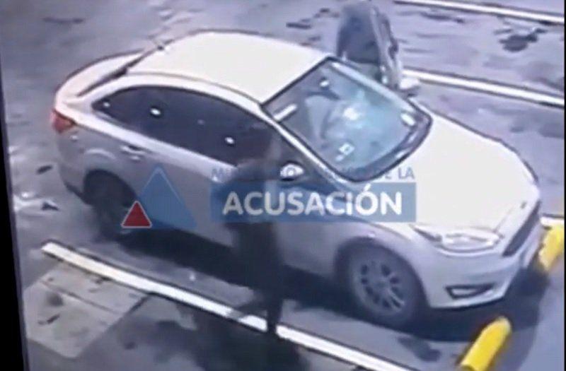 Un video muestra cómo llegó el jefe de la Federal a la estación de servicio tras recibir dos balazos