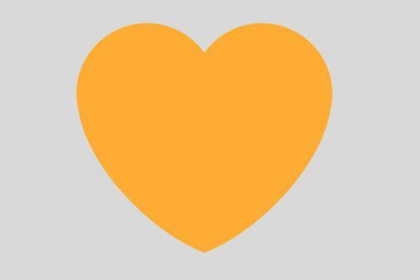 El atrevido significado sexual del corazón naranja de WhatsApp