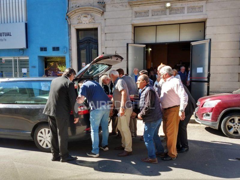 Los restos de Daniel Bustamante fueron trasladados a Lar De Paz