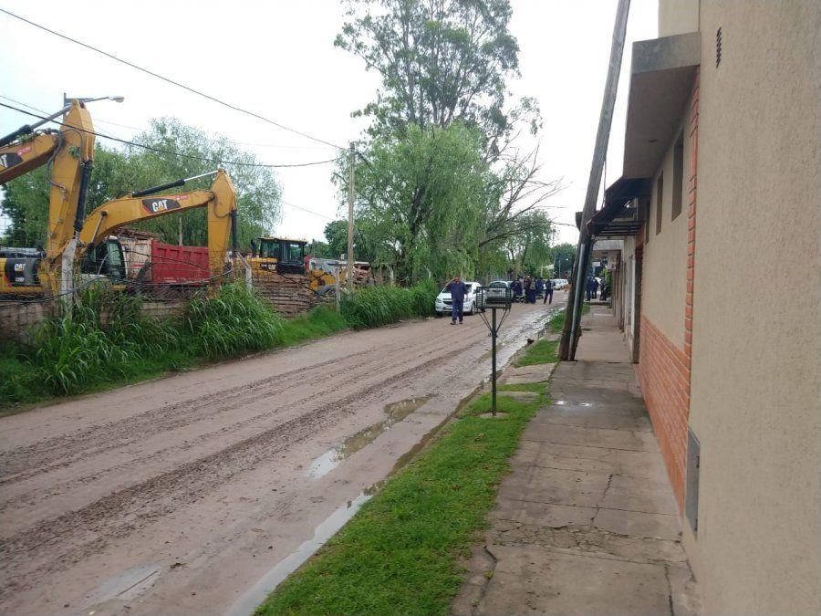 Este lunes a las 7.30 los trabajadores encontraron el portón cerrado con candado