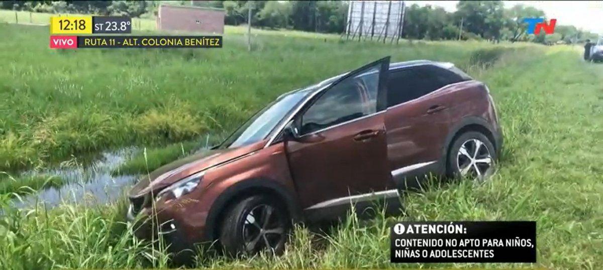 El accidente de una familia de Colón en la Ruta Nacional N°11 a la altura de Colonia Benítez