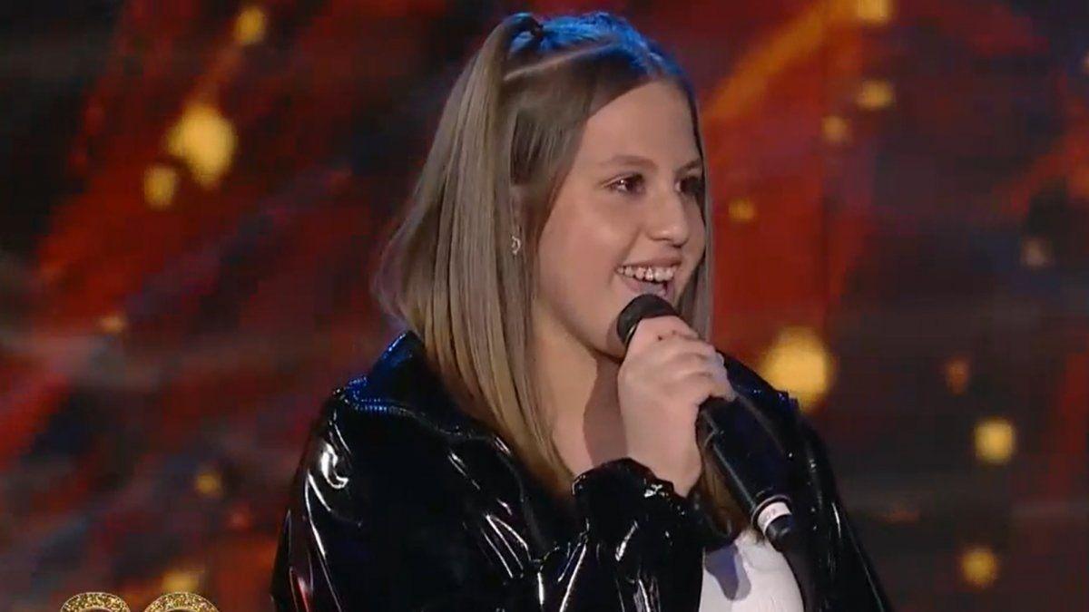 La hija de La Princesita y El Polaco debutó como cantante en el programa de Susana Giménez