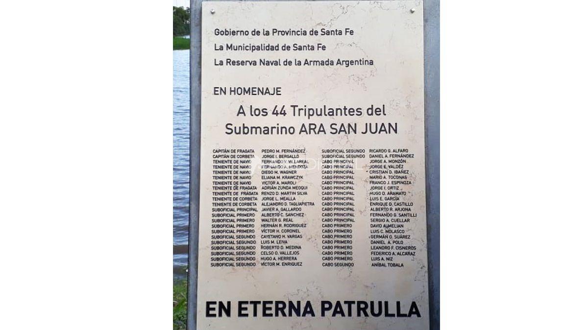Santa Fe rendirá homenaje a los 44 submarinistas del ARA San Juan a dos años del hundimiento