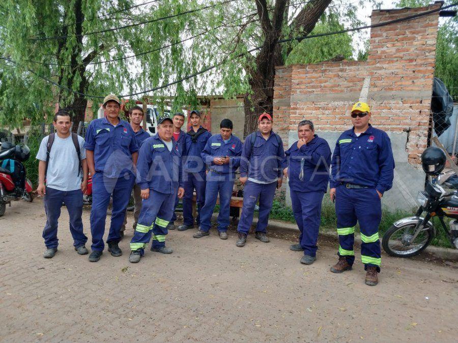 Los trabajadores del Desagüe Espora no pudieron ingresar al obrador porque estaba cerrado