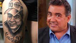 un hombre se tatuo a maradona pero el diseno quedo... ¡igual a diego perez!