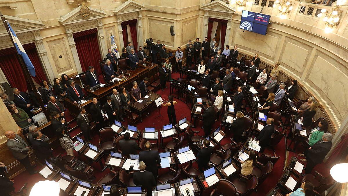 En medio de problemas con la luz, juraron los nuevos senadores nacionales