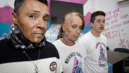 Walter Ortiz, Marina Quintero, Thiago Solis. Casa LGBTI Santa Fe. Foto: Maiquel Torcatt / Aire Digital