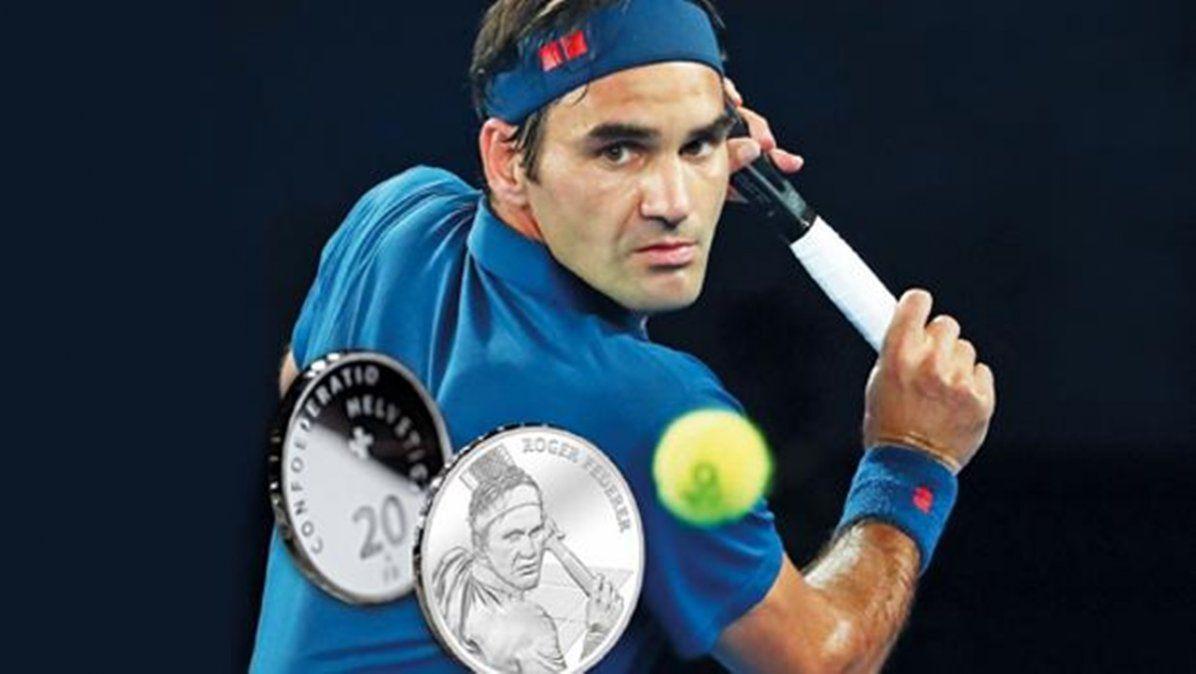 Suiza hará monedas de oro y plata con la imagen de Roger Federer