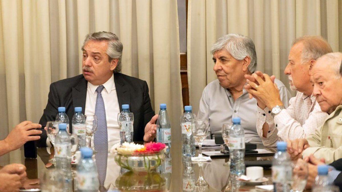 Alberto Fernández y Hugo Moyano se reunieron para limar asperezas