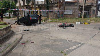 Grave accidente en Castelli y Sarmiento: el motocilista fue derivado al Cullen