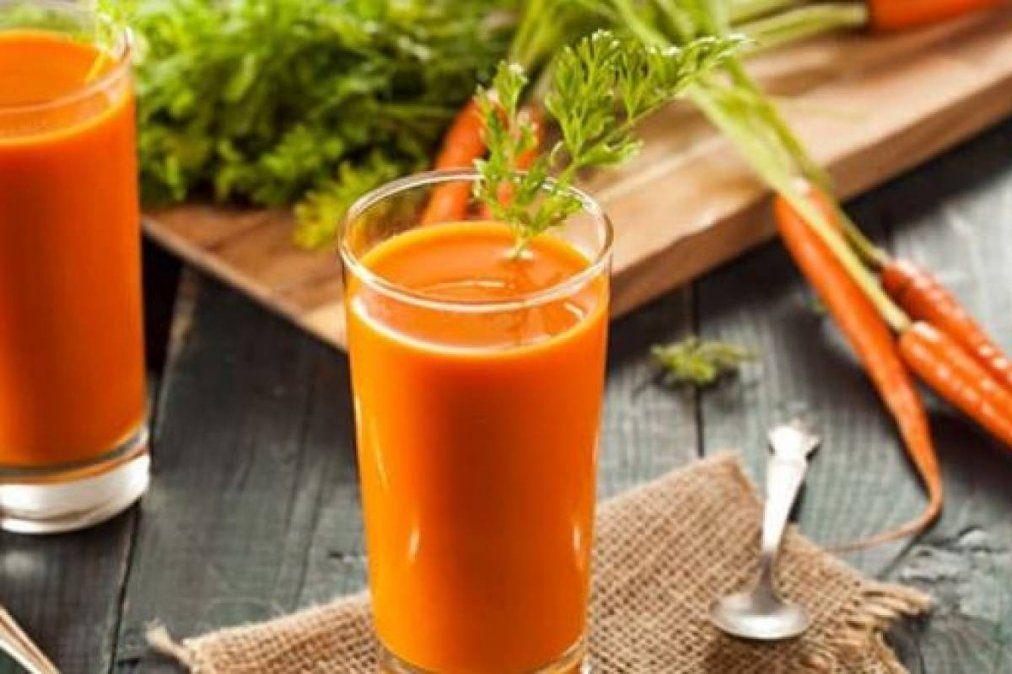 Jugo de zanahoria y jengibre para perder peso y reforzar el sistema inmunológico