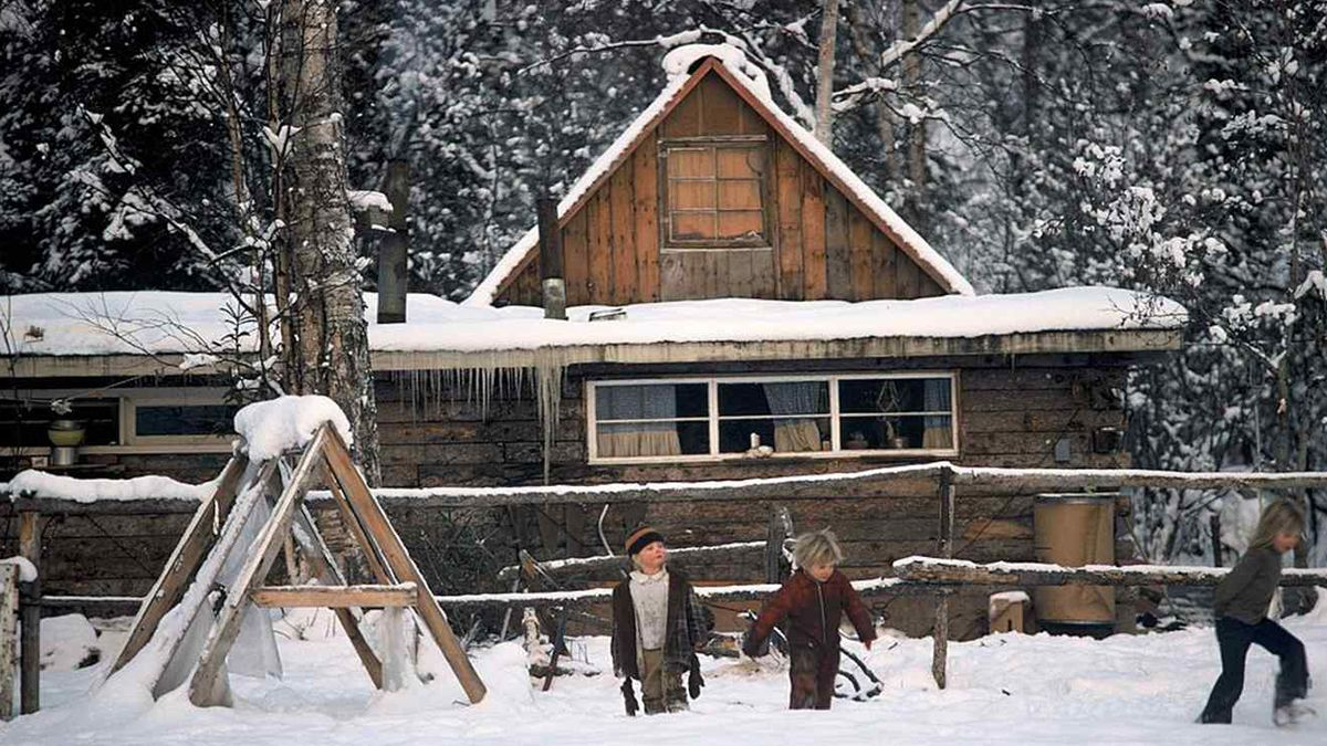 Los dejaron solos y el niño fue por ayuda mientras arrastraba a su hermanito bebé en la nieve