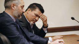 """El ex boxeador y campeón del mundo por el peso wélter, Carlos """"Tata"""" Baldomir, durante el juicio en el que lo condenaron por abusar de una de sus hijas."""