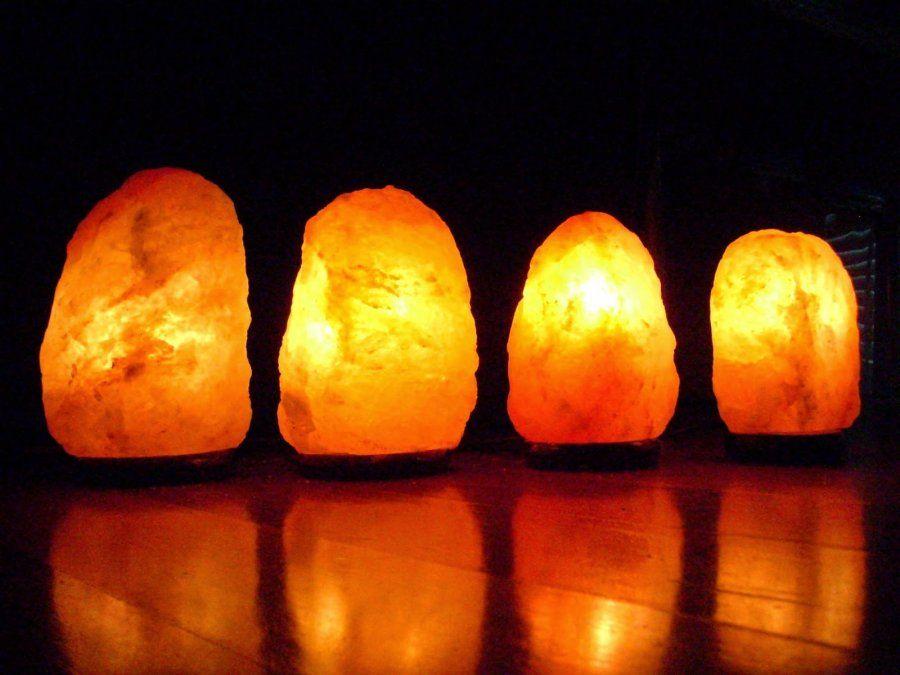 Lámparas de sal del Himalaya.