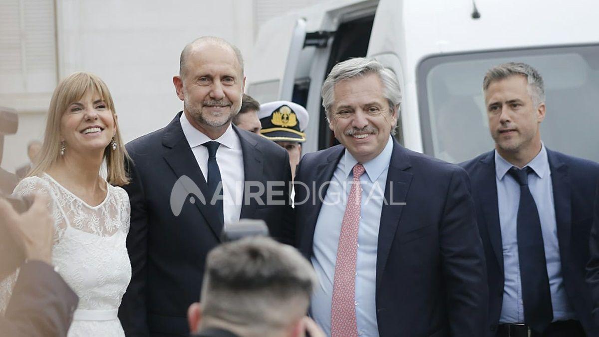 El presidente Alberto Fernández acompañó al nuevo gobernador de Santa Fe