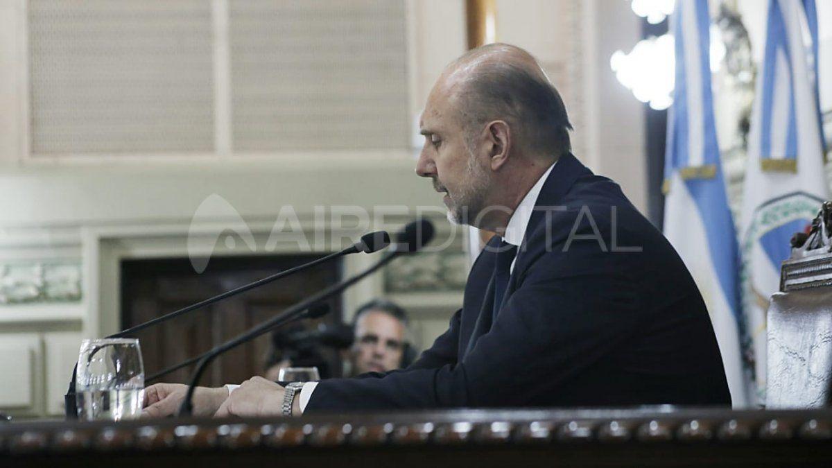 Omar Perotti dio su primer discurso como gobernador de Santa Fe