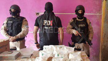 Buscaban armas y encontraron nueve kilos de anfetaminas en Alto Verde
