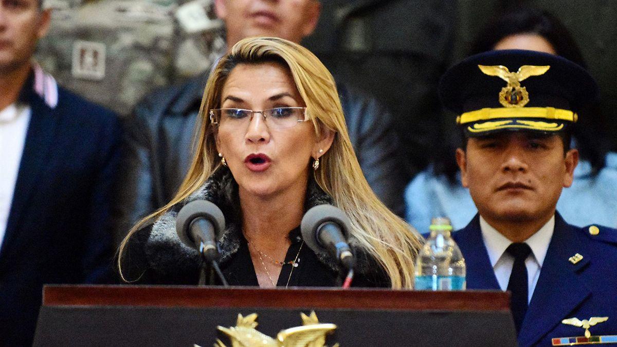 La presidenta de Bolivia