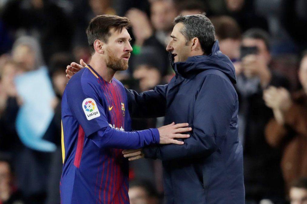 Messi despidió a Ernesto Valverde en sus redes sociales