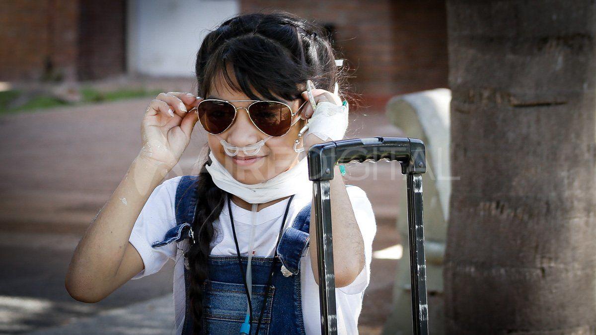 Maira Cáceres, la pequeña que da batalla desde una habitación del Hospital de Niños