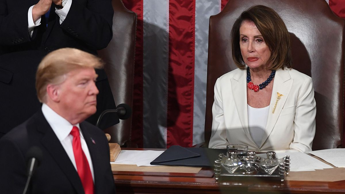 Donald Trump y la demócrata Nancy Pelosi.