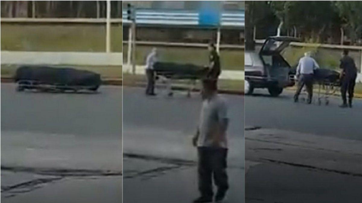 Un coche fúnebre perdió el cajón en plena avenida  bonaerense