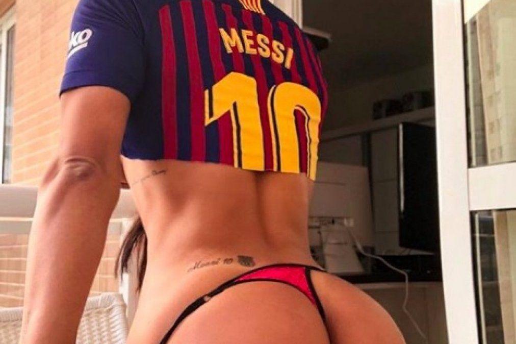 Suzy Cortez vuelve a hacer de las suyas y se tatúa la cara de Messi en una zona íntima