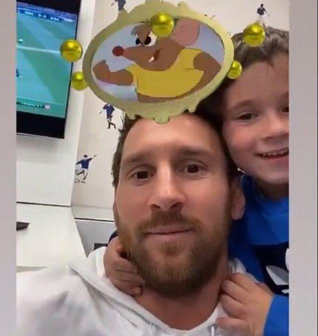 El enojo de Mateo Messi por un personaje de Disney