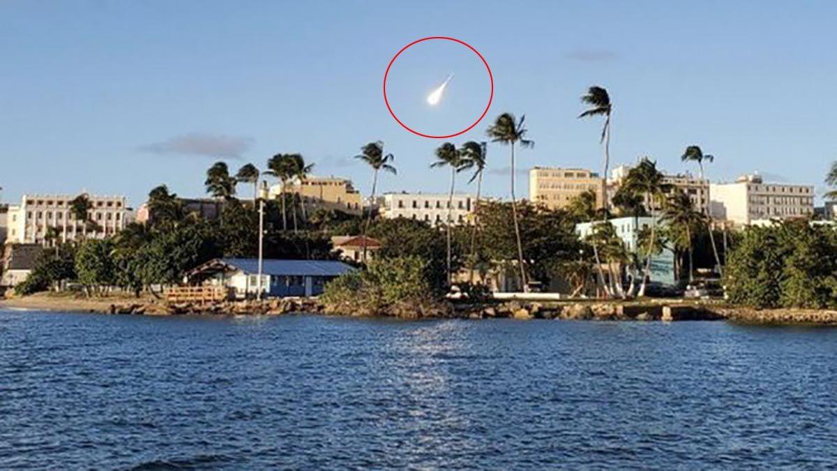 Un meteoro pasó por Puerto Rico.