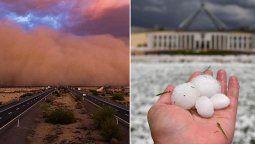 el clima en australia, sin piedad: incendios, inundaciones, tormentas de polvo y granizo