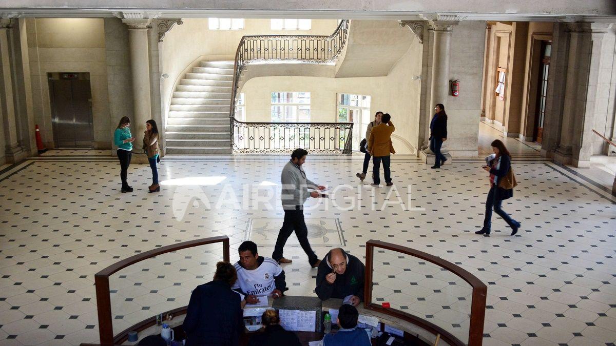 El interior de los Tribunales santafesinos.