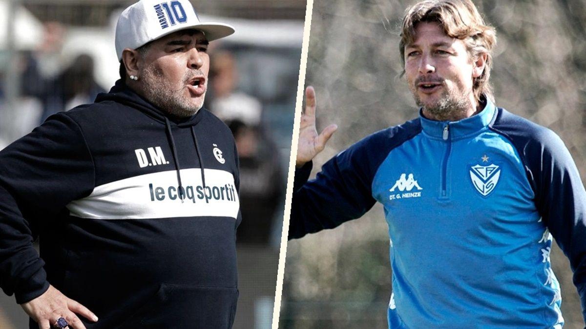 Con Maradona y un equipo renovado, Gimnasia juega ante Vélez
