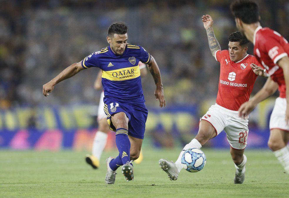 En un partido cargado de tensión, Boca e Independiente igualaron sin goles en la Bombonera