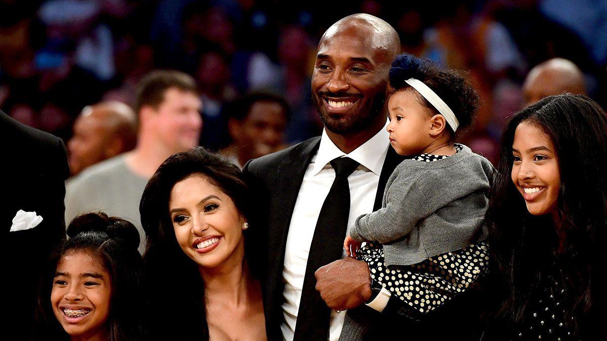 Kobe Bryant y su familia.